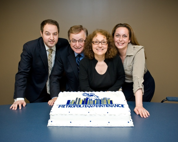 The Malerba family. From left: Mark, Mike (Mark's father), Joanne (Mother) and Emily (sister).