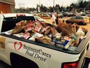 At this past weekend's Metro grocery store drive. Photo courtesy Business Cares website