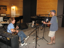 "Recording ""I Remember"" with my pal Dave Cook at KG Records in London in June, 2007."