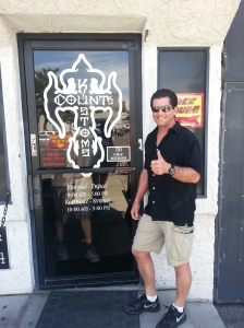 At Count's Kustoms in Las Vegas. It was a thrill to be there!