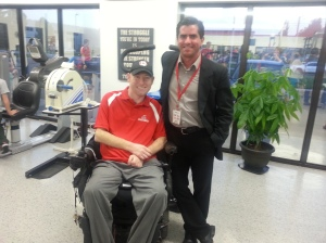 With Mike Mulligan at Moving Forward Rehabilitation and Wellness Centre